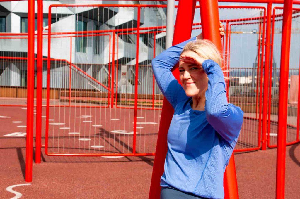Michelle Kristensen træner