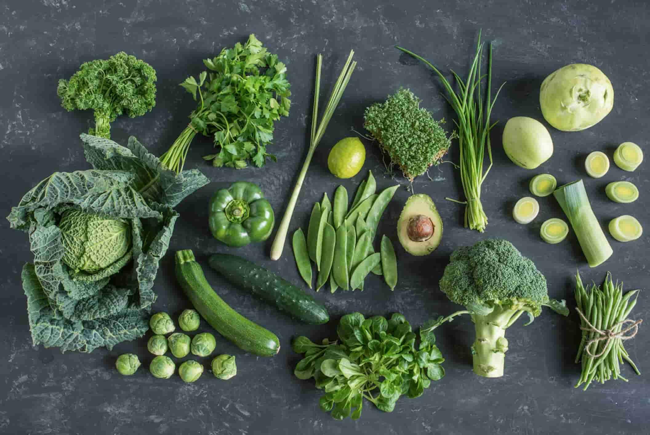 Grøntsager af den grønne slags
