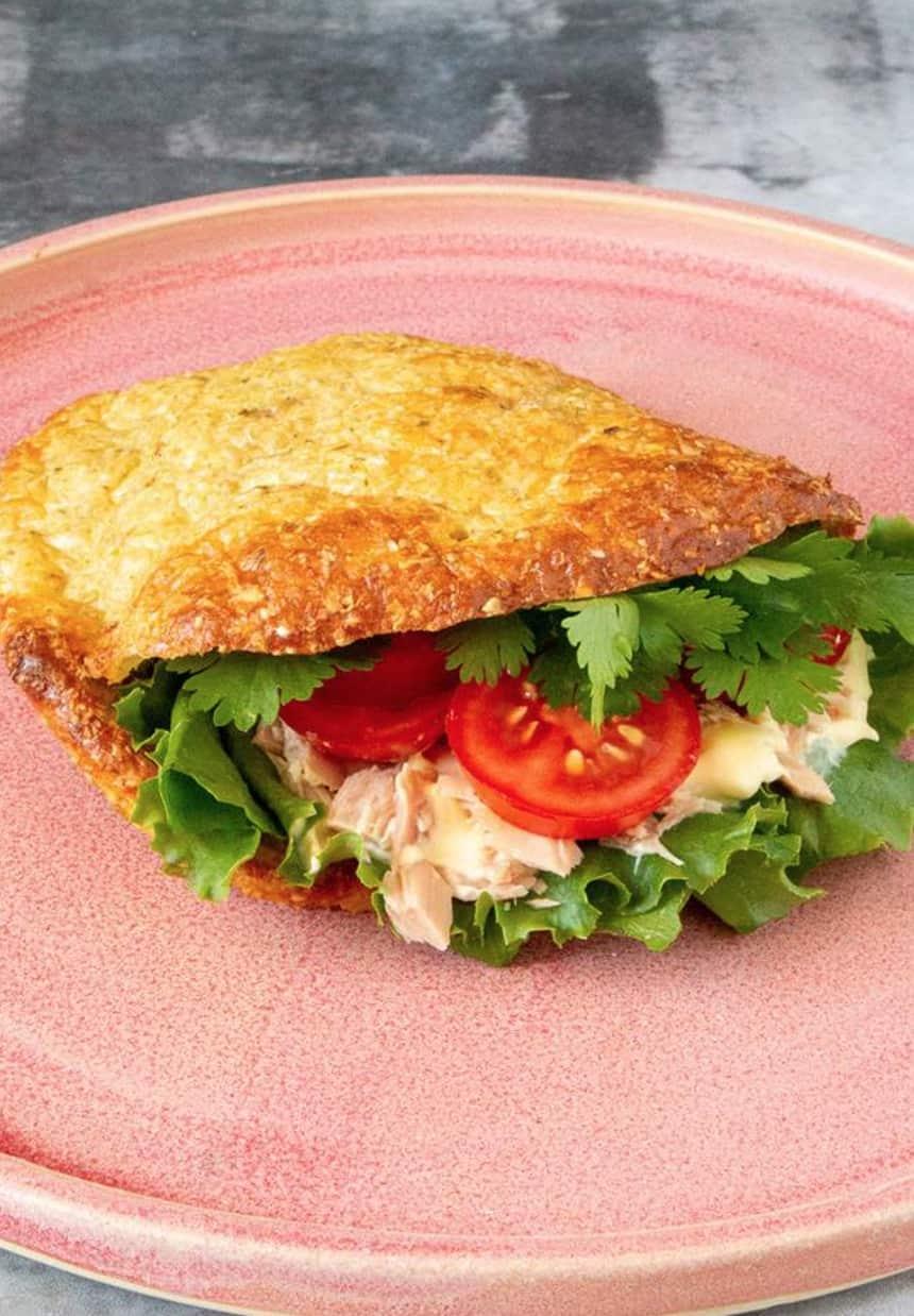 Mmh, lækkert sandwichbrød lavet af skyrbolledejen.