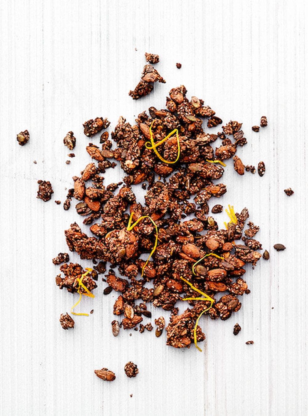 choko-orange granola