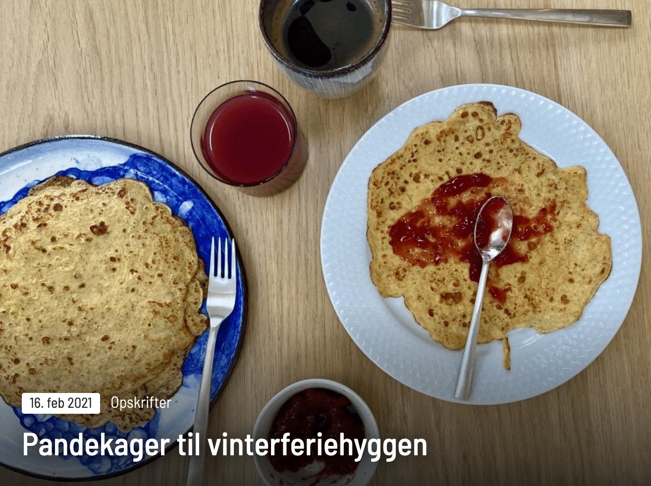 Lav pandekager med børnene i vinterferien