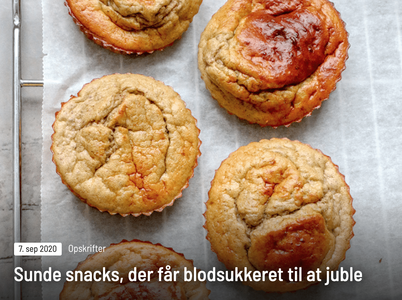 Sunde snacks der får blodsukkeret til at juble