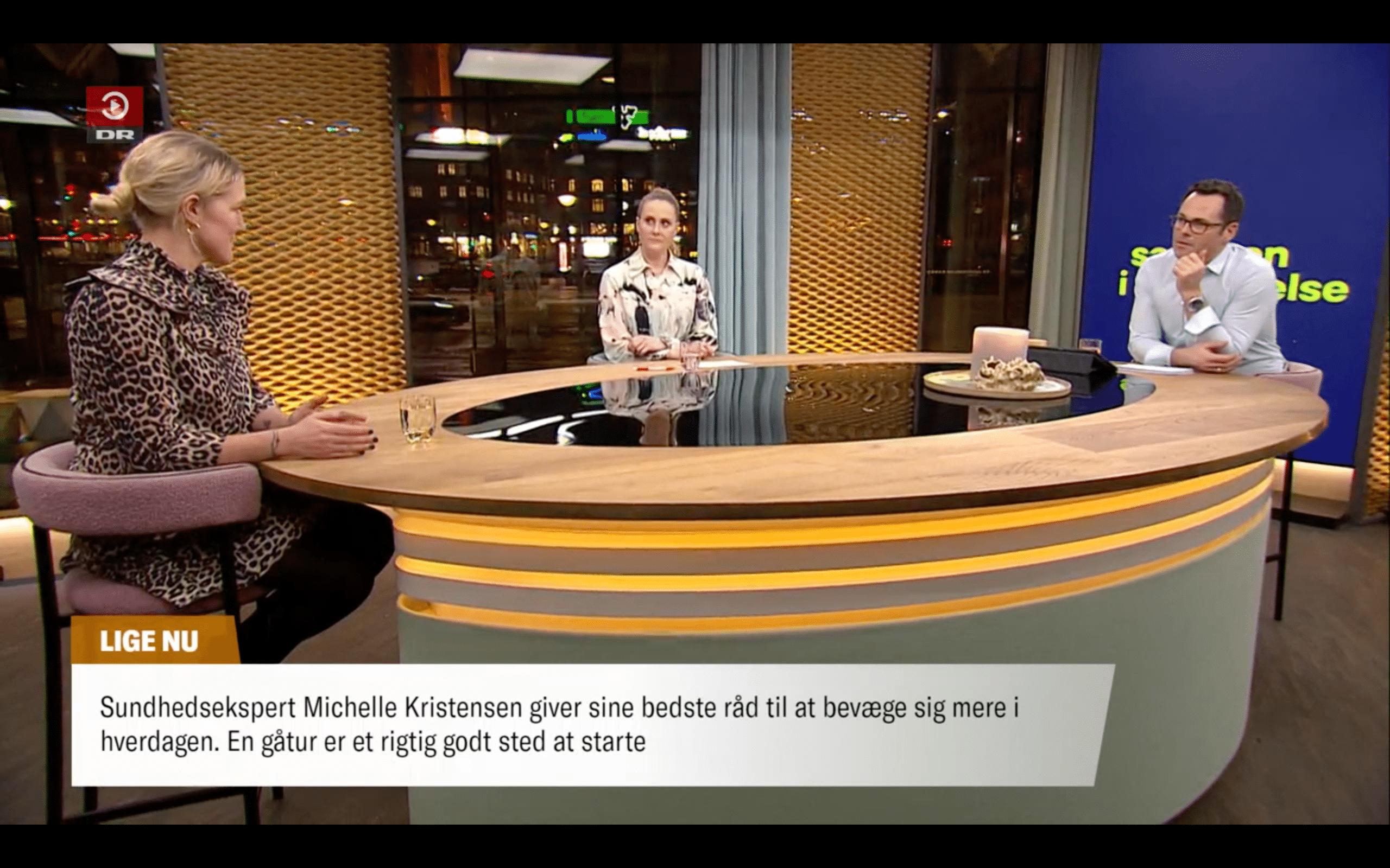 Michelle taler i Aftenshowet om det at gå