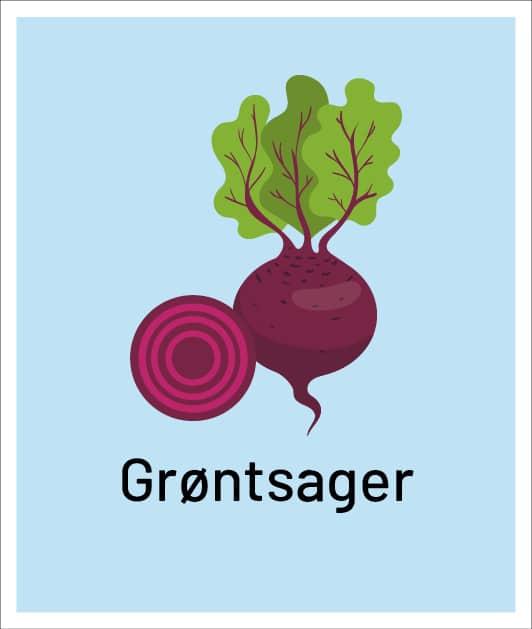 Dine mængder af grøntsager