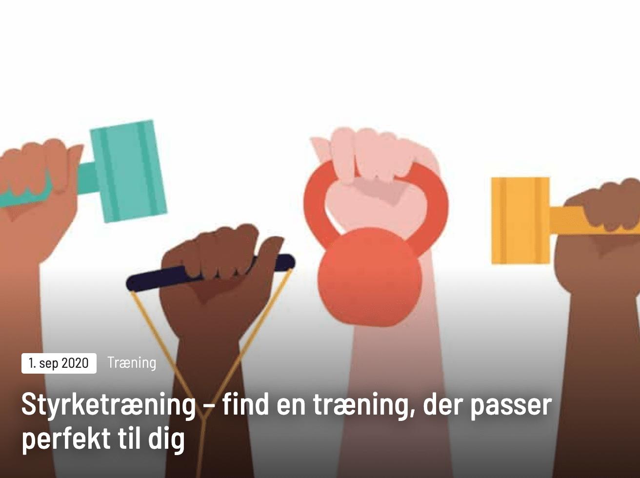 Find en træning, der passer til dig