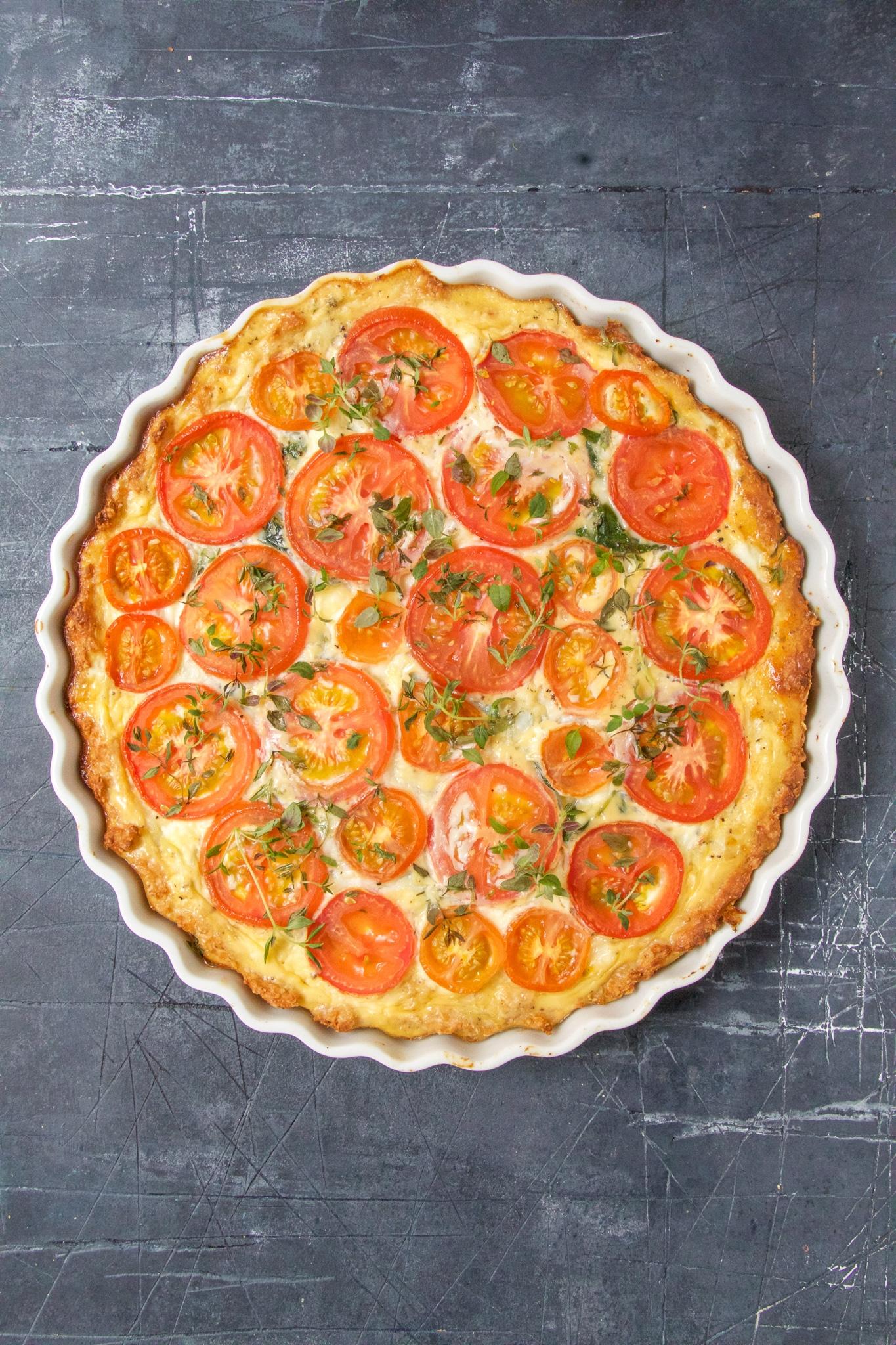 Opskriften på tomattærte