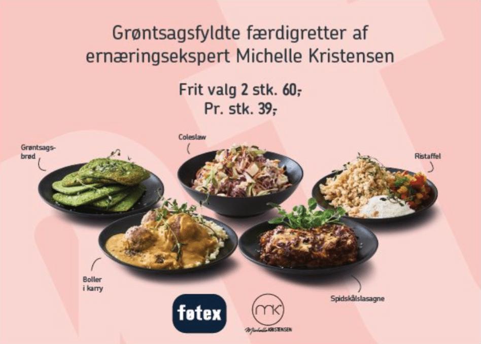 Grøntsagsfyldte færdigretter i Føtex