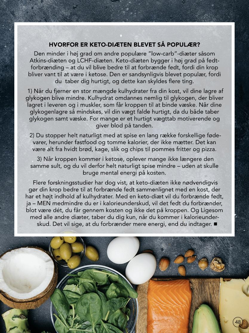 Lidt viden om keto-diæten fra MK magasinet, april 2020